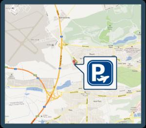 mapa cesty k parkovišti